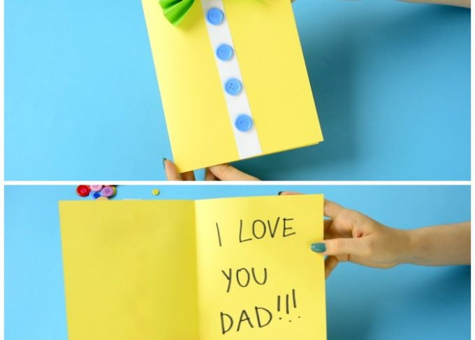 Bow-Tie Shirt Father's Day Card Idea