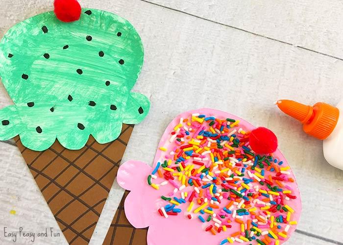 Paper Plate Ice Cream Craft - Summer Craft Idea for Kids ...