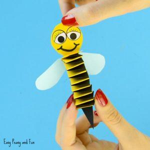 Accordion Paper Bee Craft