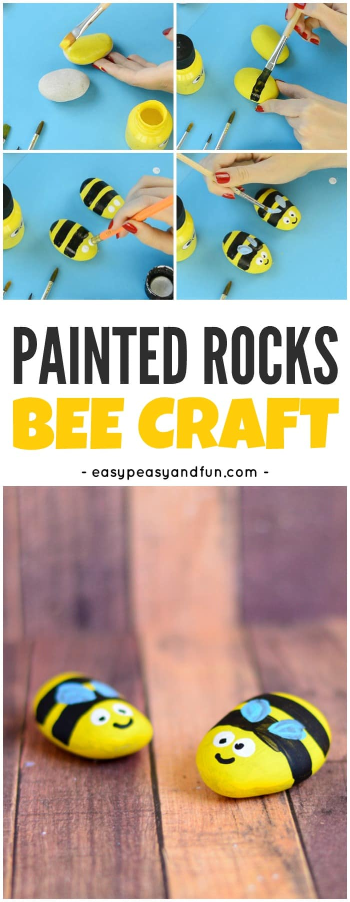 Bee Painted Rocks