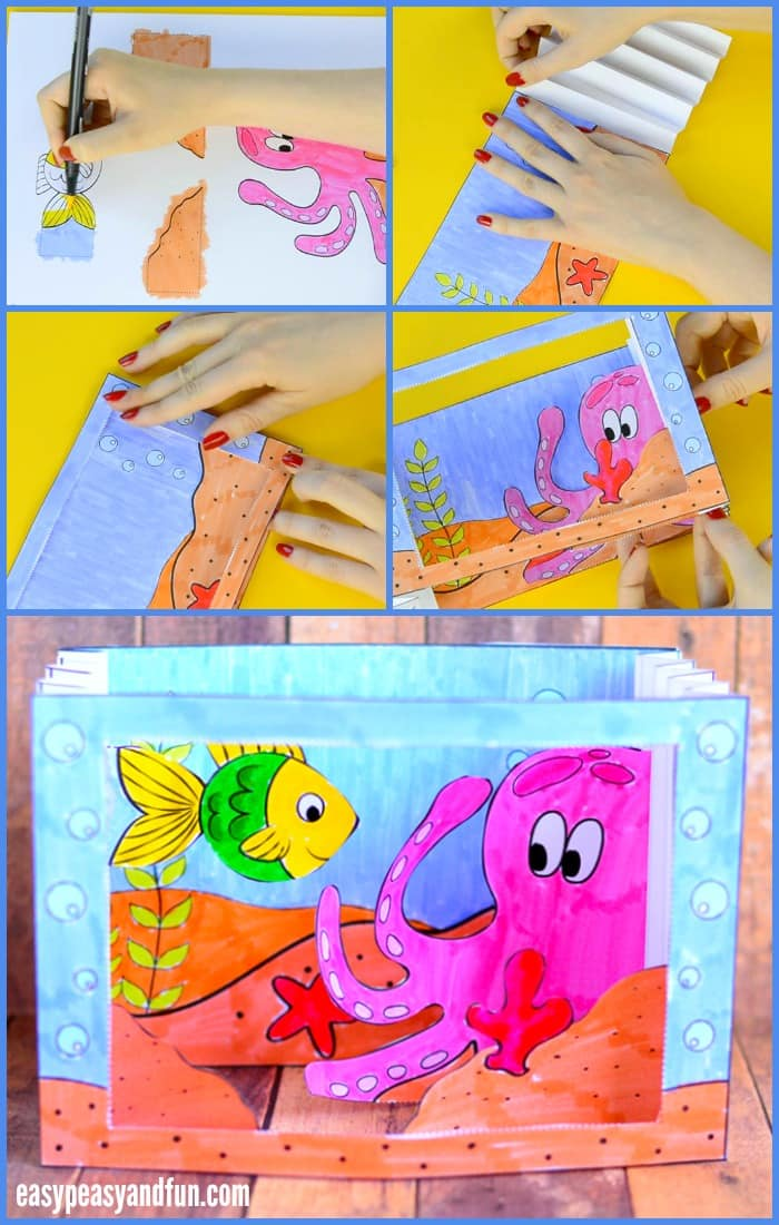 Under the sea tunnel book easy peasy and fun for Best craft books 2017