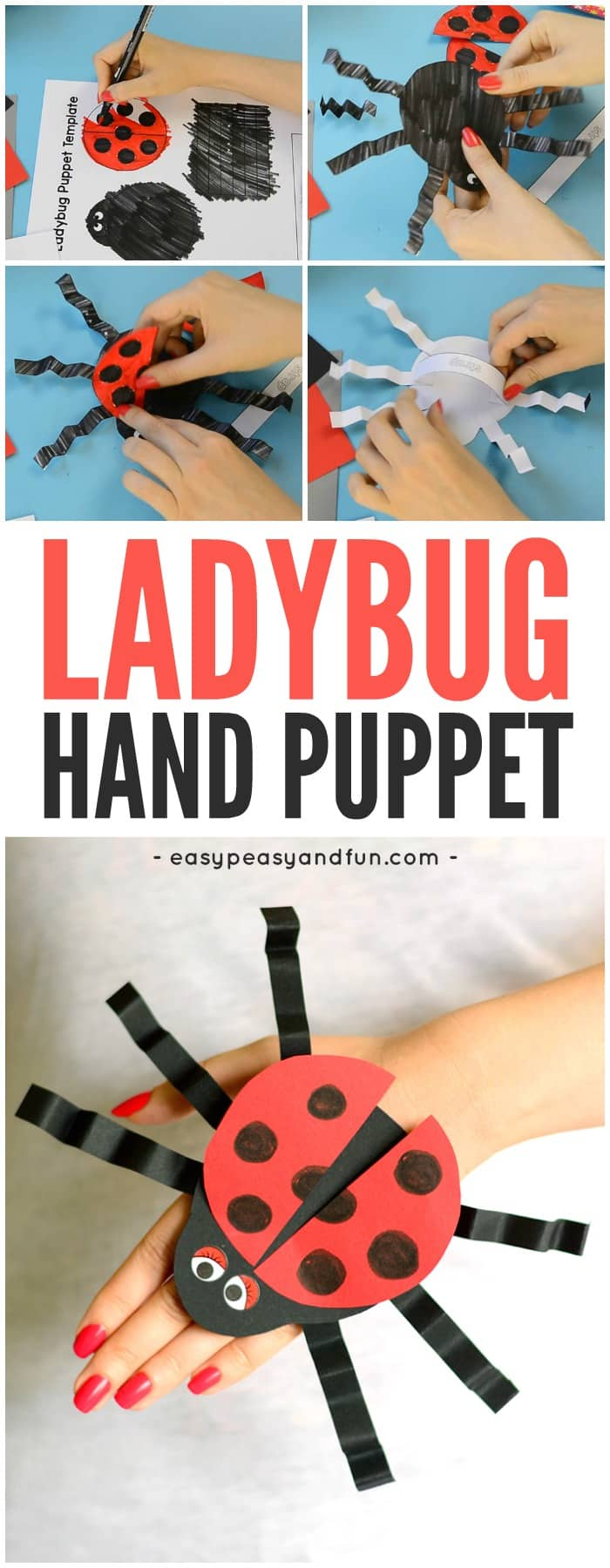 Ladybug Paper Hand Puppet