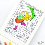 Dancing in the Rain Coloring Page