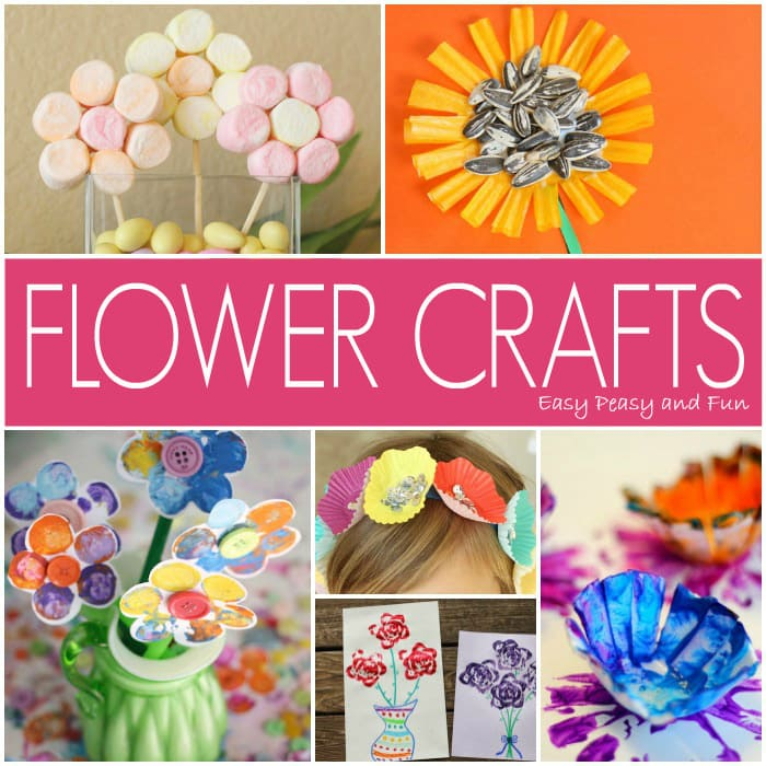 20 Easy Flower Crafts