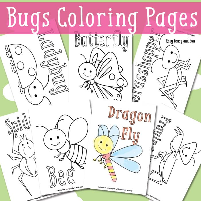 spring insects coloring pages - photo #38