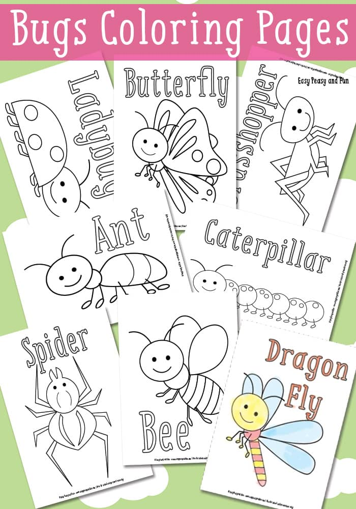 Bugs Coloring Pages Free Printable