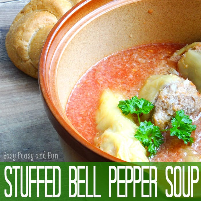 Delicious Stuffed Bell Pepper Soup