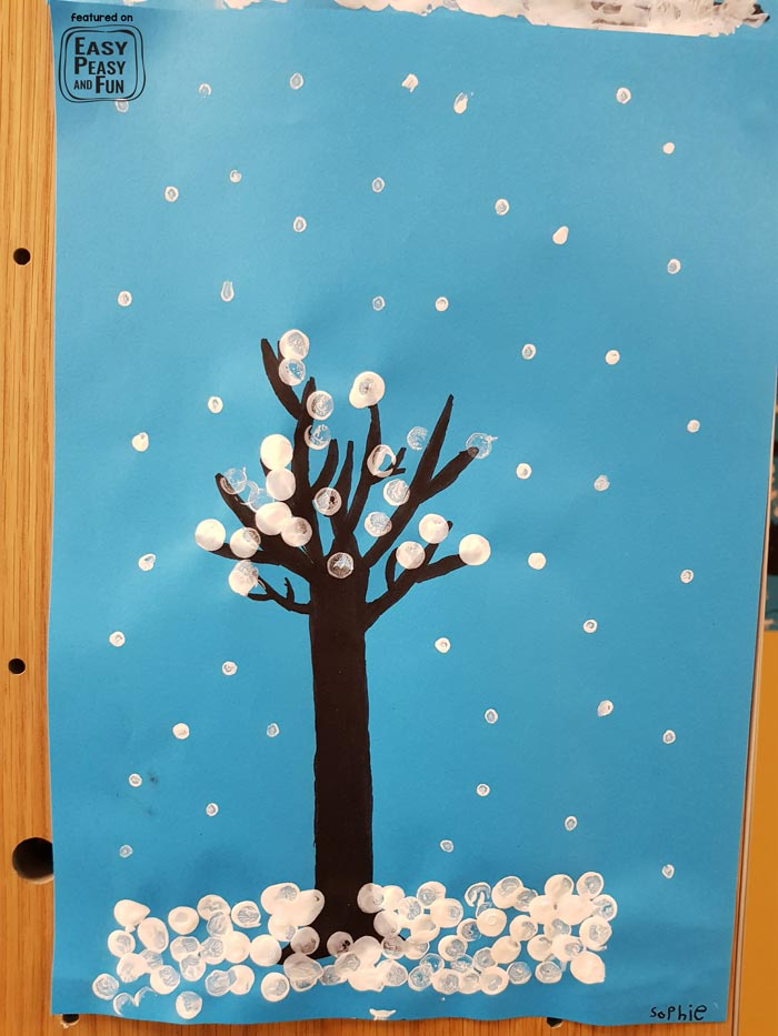 Easy Winter Art Idea For Classroom