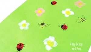Spring Meadow Finger Painting