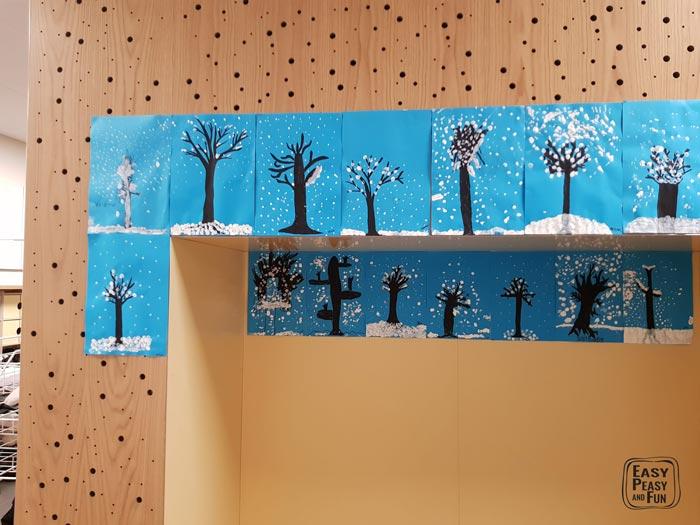 Fingerprint Winter Art Project