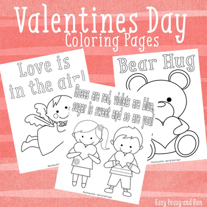 3 Sweet Valentines Day Coloring Pages Easy Peasy And Fun