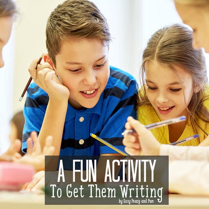 Fun Activity To Get Them Writing