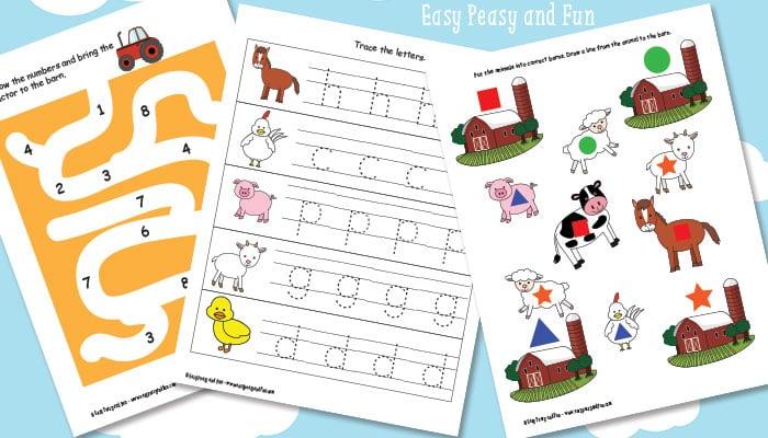 Preschool and Kindergarten Farm Pack