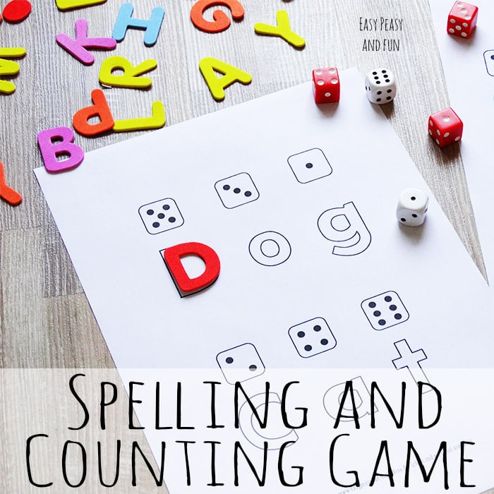 Spelling and Counting Game With Free Printable