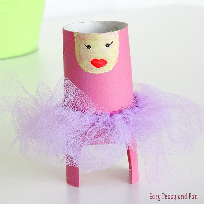 Toilet paper roll ballerina craft easy peasy and fun for Fun crafts with toilet paper rolls