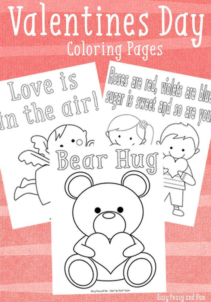 Sweet valentines day coloring pages easy peasy and fun