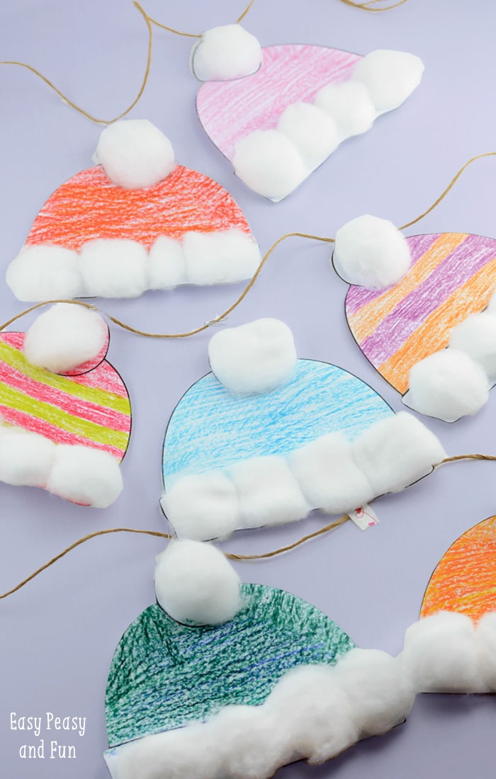 Winter Hats Craft for Kids to Make