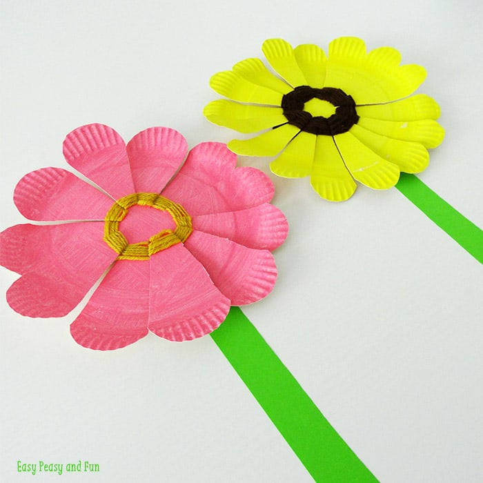 25 wonderful flower crafts ideas for kids and parents to make woven paper plate flowers mightylinksfo