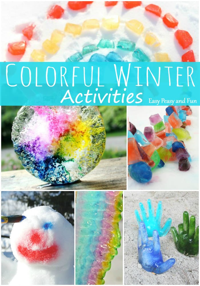 Colorful Winter Activities for Kids
