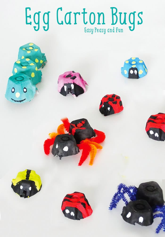 Egg Carton Crafts Part - 25: Bugs Egg Carton Crafts