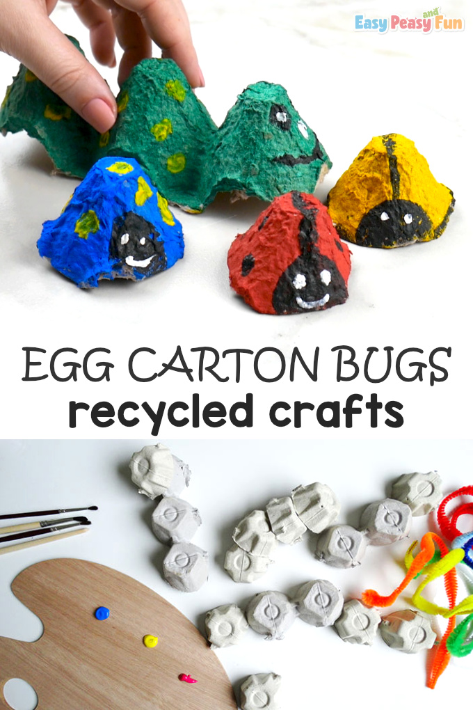 Bugs Egg Carton Recycled Crafts