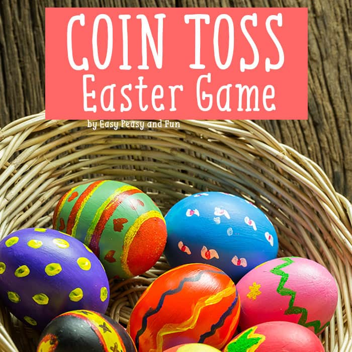 Coin Toss Easter Game for Kids