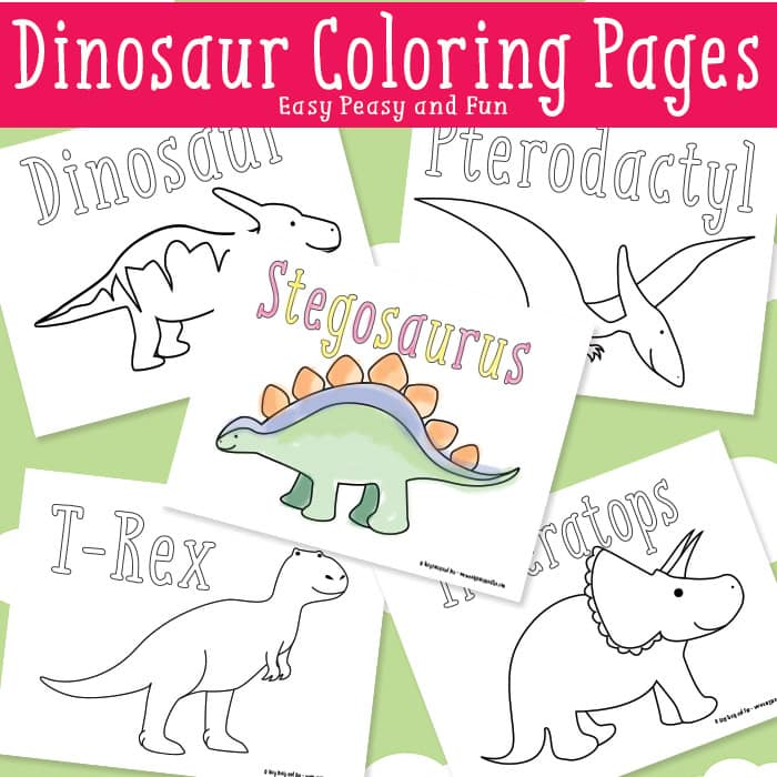 Dinosaur Coloring Page Extraordinary Dinosaur Coloring Pages With ... | 700x700