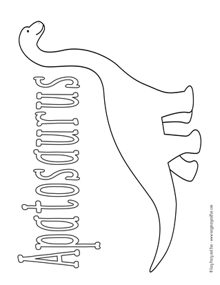 photograph about Dinosaur Coloring Pages Printable named Dinosaur Coloring Webpages - Very simple Peasy and Exciting