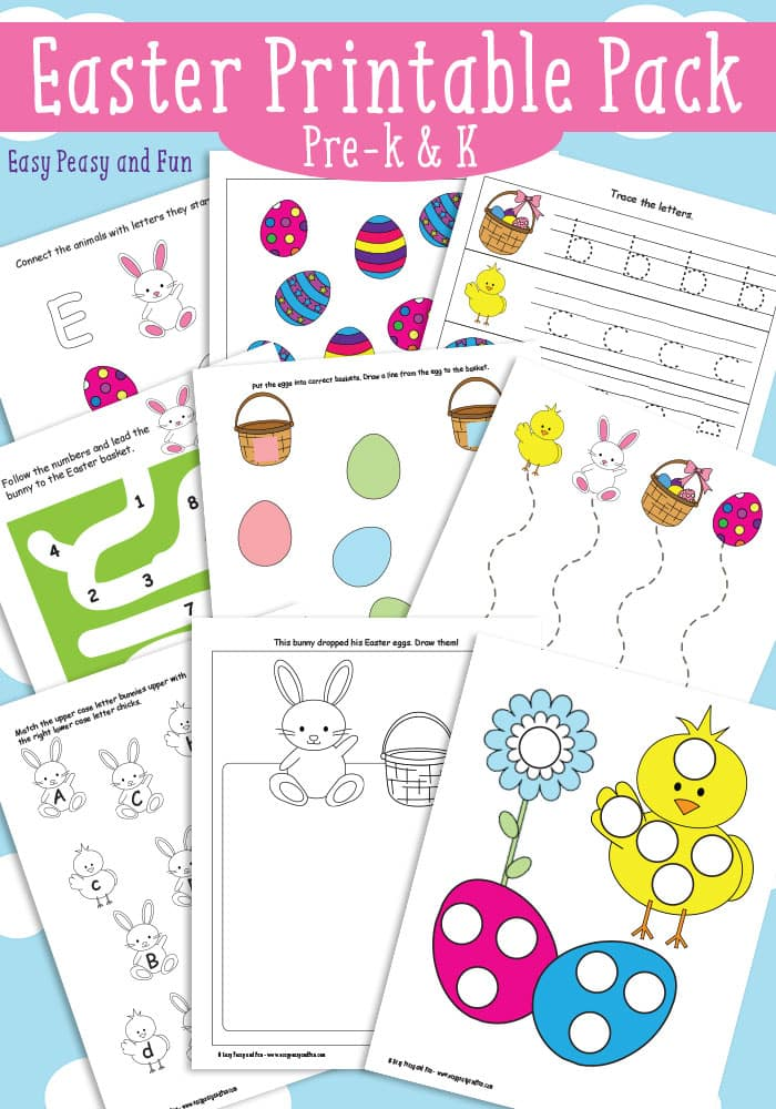 Easter Printable Pack - Preschool and Kindergarten