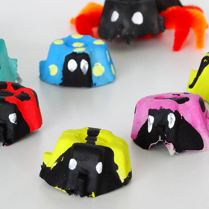 Bugs Egg Carton Crafts