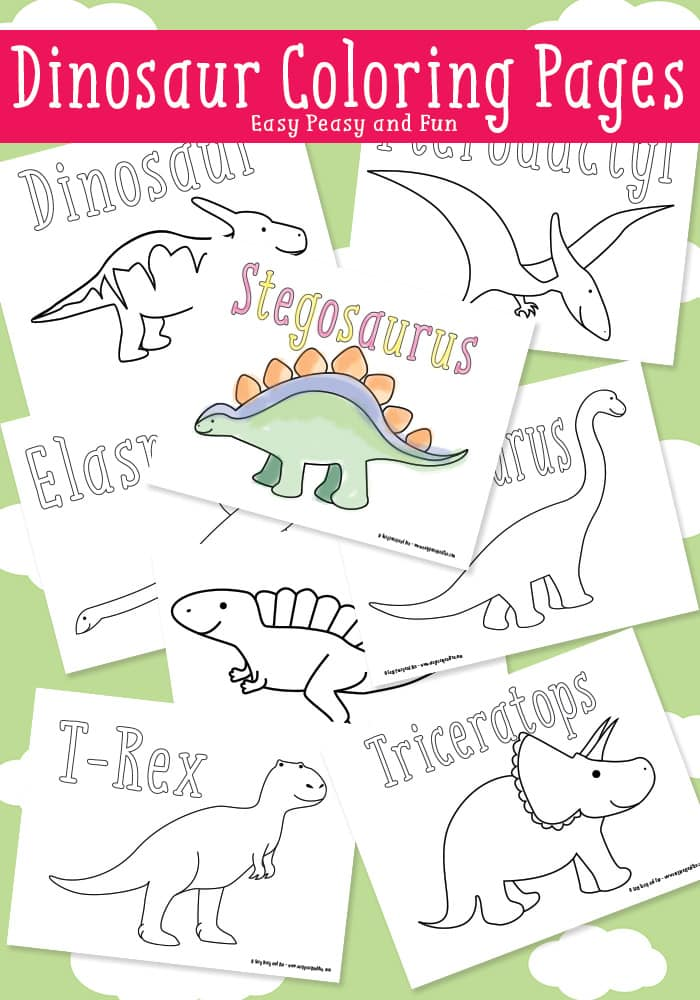 photo relating to Dinosaur Coloring Pages Printable named Dinosaur Coloring Webpages - Basic Peasy and Exciting