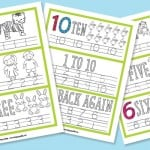 Simple Number Tracing Worksheets