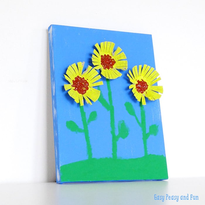 Sunflower Egg Carton Craft