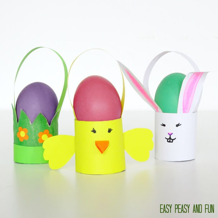 Toilet Paper Roll Easter Craft Baskets Easy Peasy And Fun