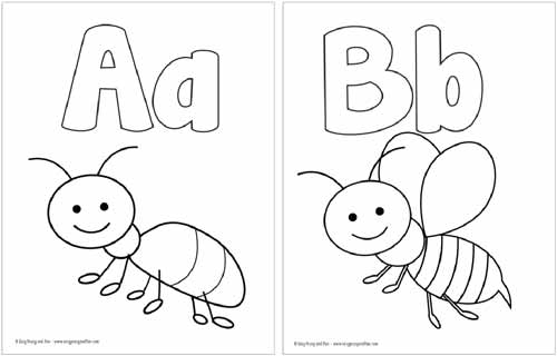 A and B coloring Pages