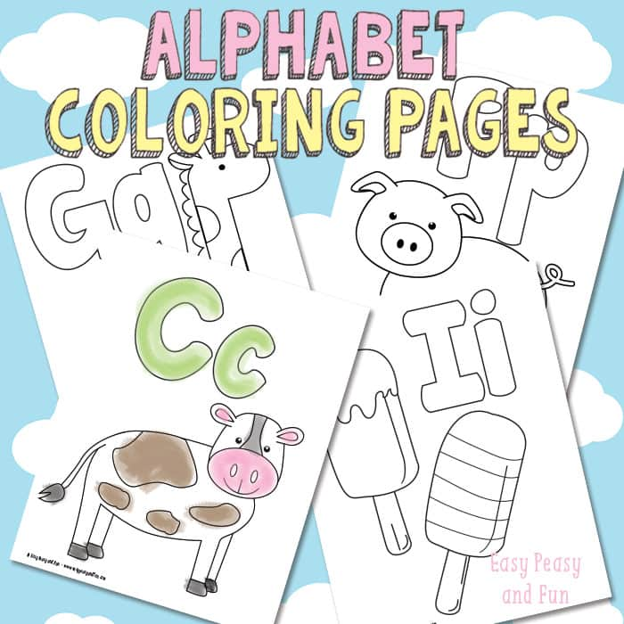 alphabet coloring pages - Alphabet Coloring Pages
