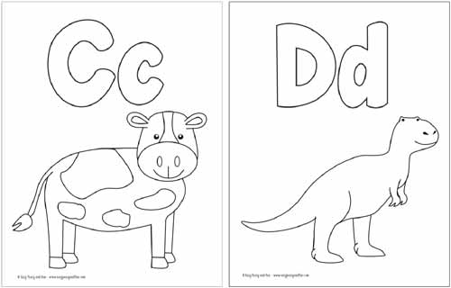 Free Coloring Pages Alphabet : Coloring Pages