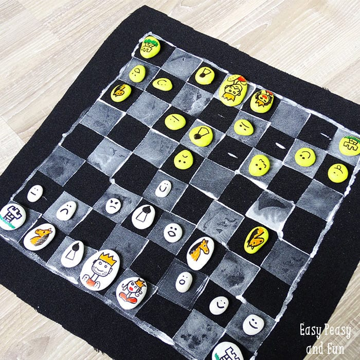 Diy chess board game easy peasy and fun Where can i buy a chess game