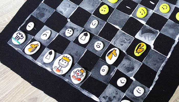 Diy Chess Board Game Easy Peasy And Fun
