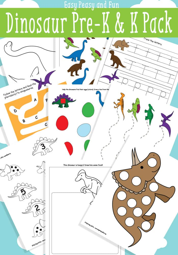 Printable Dinosaur Worksheets : Dinosaur printables for preschool easy peasy and fun