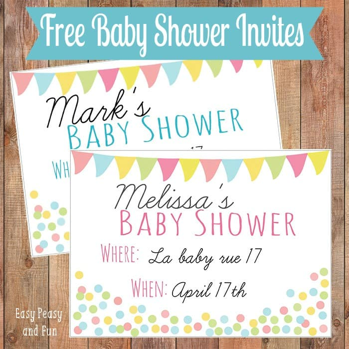 picture regarding Free Printable Blank Baby Shower Invitations titled Totally free Printable Little one Shower Invitation - Basic Peasy and Enjoyable