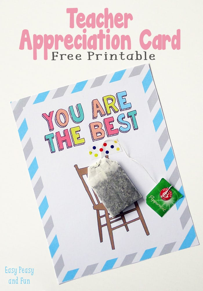 image regarding Printable Teacher Appreciation Card named Instructor Appreciation Card - Very simple Peasy and Enjoyable
