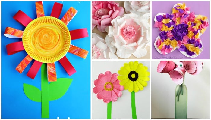Paper Plate Flowers Easy Peasy And Fun