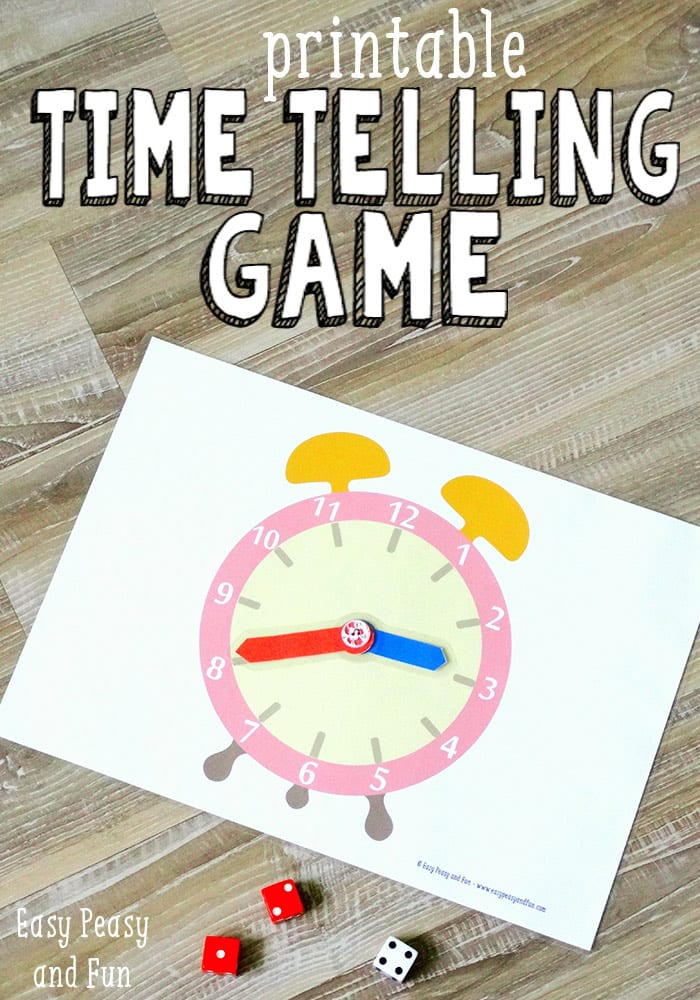 Printable Time Telling Game