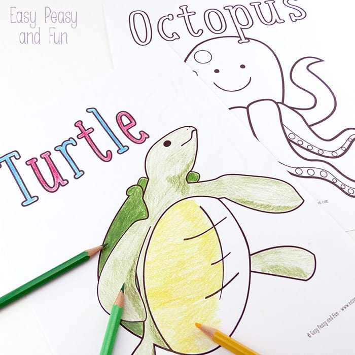- Ocean And Sea Animals Coloring Pages {Free Printable} - Easy Peasy And Fun