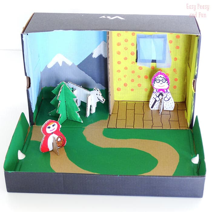 story box shoe box craft easy peasy and fun