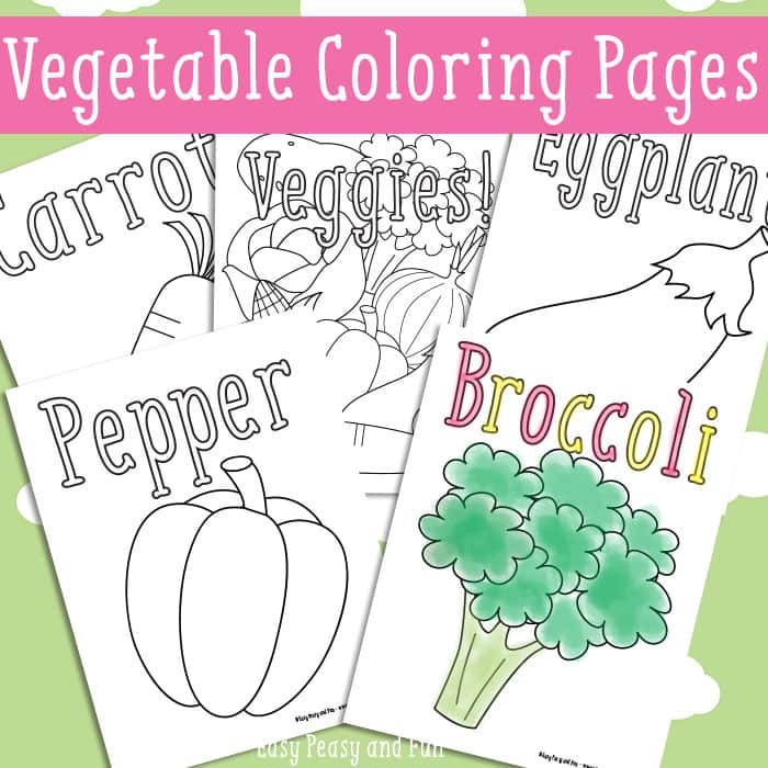 Vegetables Coloring Pages - Free Printable - Easy Peasy and Fun