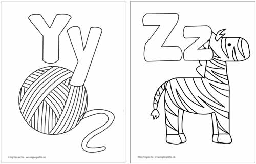 small alphabet coloring pages - photo#28