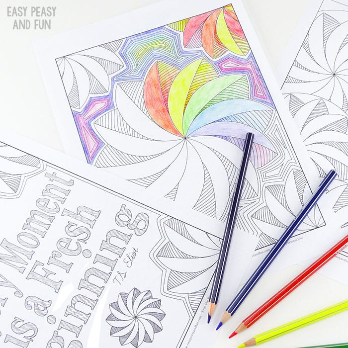 Coloring Pages for Adults Flower Swirls