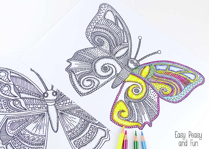 Butterfly Coloring Pages For Adults Easy Peasy And Fun